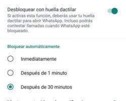 WhatsApp para Android ofrece bloqueo mediante pegada dixital de xeito xeral