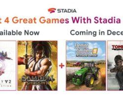 Os subscritores de Stadia Pro recibirán un par de xogos adicionais en decembro